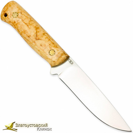 Нож Стриж ЦМ. Рукоять - карельская берёза