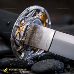 Нож Танто. Рукоять - граб. Сталь ЭИ-107