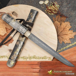 "Нож Танто ""Кленовый сад"". Сталь ZDI-1016"