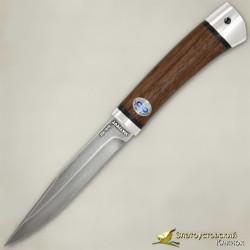 Нож Заноза. Рукоять - орех, алюминий. Сталь ZDI-1016