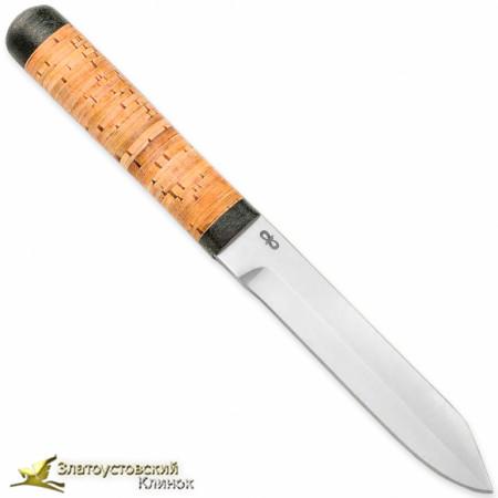 Нож Засапожный-2. Рукоять - береста, текстолит
