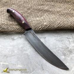 Нож из литого булата К001 ЦМ. Рукоять - амарант