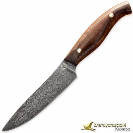 Нож из литого булата К001 - орех