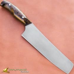 Нож из литого булата K003-V2 Шеф - карельская береза