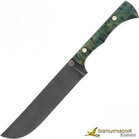 Нож из литого булата K004 Пчак - карельская берёза