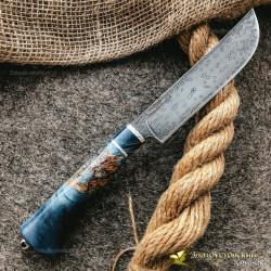 Нож из литого булата K004 Пчак. Рукоять - кап клёна