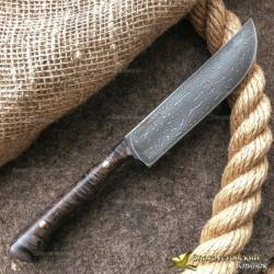 Нож из литого булата K004 Пчак ЦМ. Рукоять - кап клёна