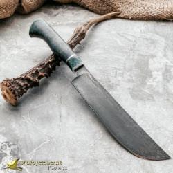 Нож из литого булата K004 Пчак. Рукоять - карельская берёза