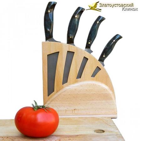 Кухонный набор ножей из литого булата - 1