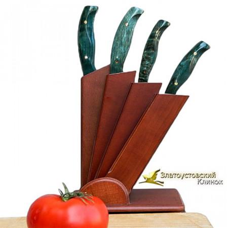Кухонный набор ножей из литого булата - 2