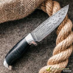 Нож из литого булата R001 - кожа, алюминий
