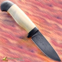 Нож из литого булата R001 - самшит