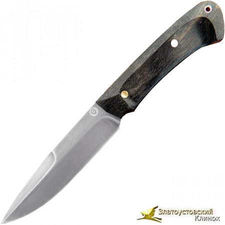 Нож из литого булата R003К - карельская берёза