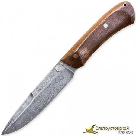 Нож из литого булата R003 - орех