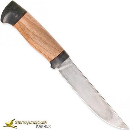 Нож R006. Рукоять орех, текстолит, сталь ЭИ-107 ТЦ