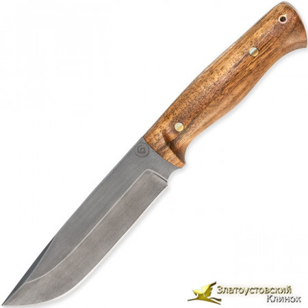 Нож из литого булата R007 - кап каштана