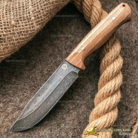 Нож из литого булата R007 - ясень