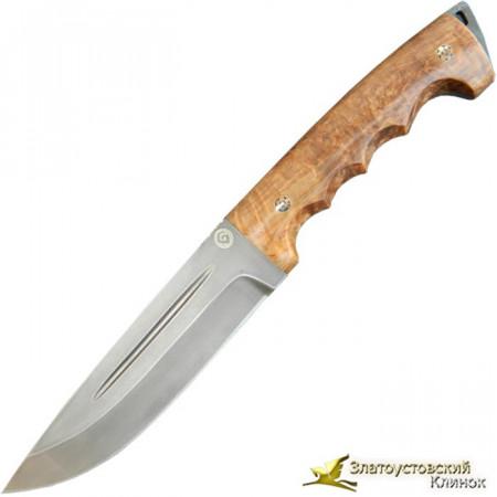 Нож из литого булата R010K - мозаичные пины