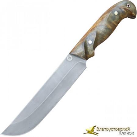 Нож из литого булата R011- орех