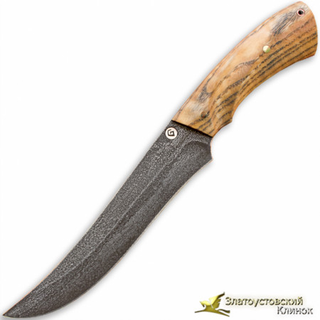 Нож из литого булата R013 - ясень