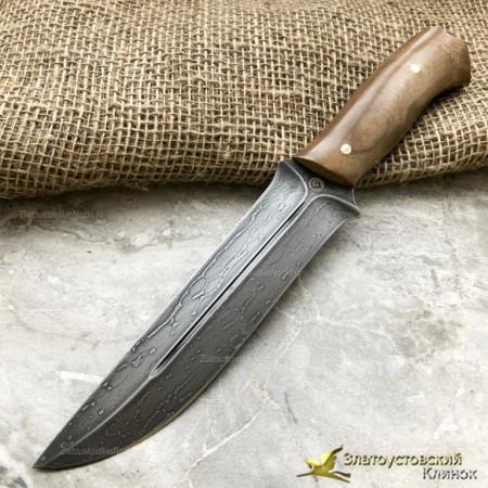 Нож из литого булата R014 ЦМ. Рукоять - орех