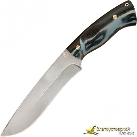 Нож из литого булата R015G - мозаичные пины