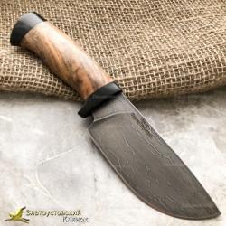 Нож S002 из литого булата. Рукоять - орех, текстолит
