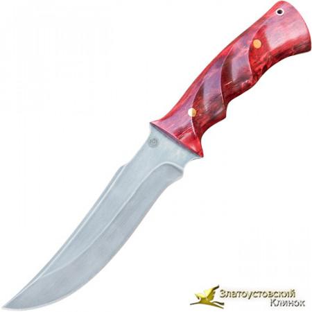 Нож из литого булата T001-V3. Рукоять - карельская берёза