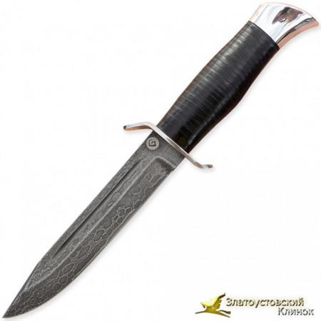 Нож из литого булата T002-V2 (HP-40). Рукоять - кожа