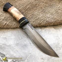 Нож из литого булата T004-V1. Наборная рукоять