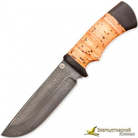Нож из литого булата T005. Рукоять береста
