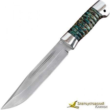 Нож из литого булата V006-V3K. Рукоять - карельская берёза