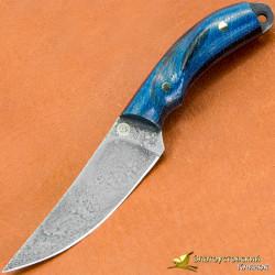 Нож из литого булата Брелок. Рукоять - микарта