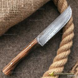 Нож из литого булата K004 Пчак ЦМ. Рукоять - зебрано