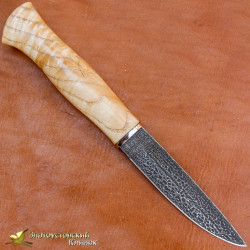 Нож из литого булата Малыш. Рукоять - ясень