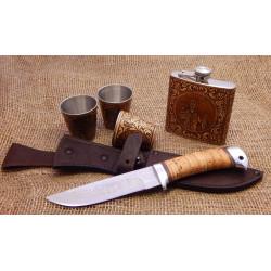 Набор Рыбак (Фляжка, три рюмки, нож )