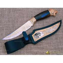 Нож украшенный Пантера. Рукоять - граб