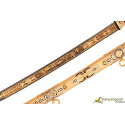 Шашка Казачья украшенная - ручная работа, сталь булат
