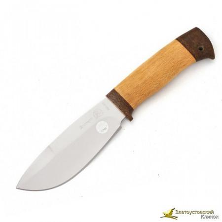 Нож  Эдельвейс. Рукоять орех, тыльник и гарда текстолит