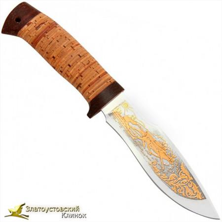 Нож Каюр. Рукоять береста