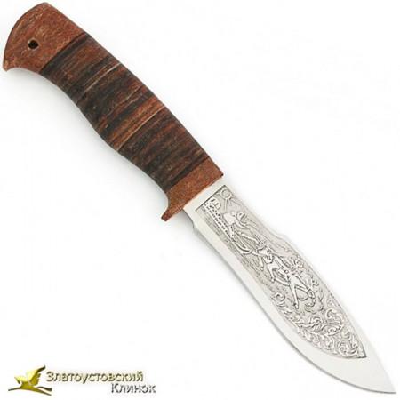 Нож Каюр. Рукоять кожа