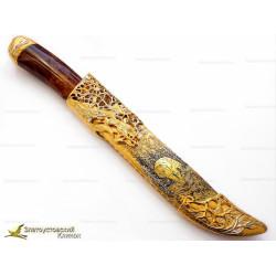 Нож украшенный Бегущий волк