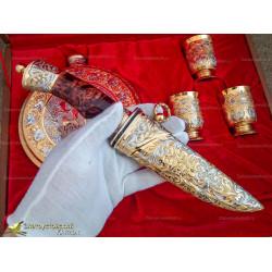 Подарочный набор Охотник (фляжка, нож, три рюмки)