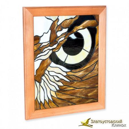 Витражное панно «Глаз совы»