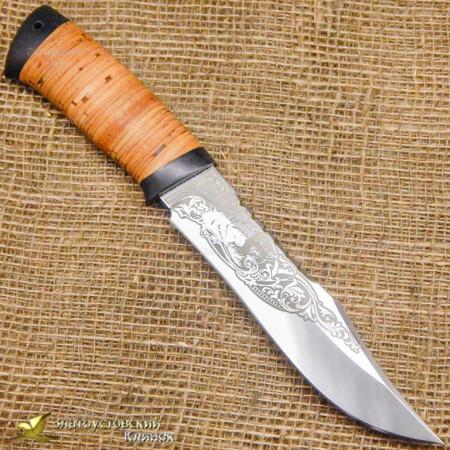 Нож Акела. Рукоять - береста, текстолит