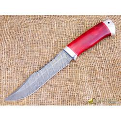 Нож Акела. Рукоять - карельская берёза, алюминий. Сталь ZDI-1016