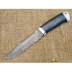 Нож Акела. Рукоять - карельская берёза, алюминий. Сталь - ZDI-1016