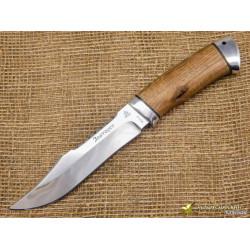 Нож Акела. Рукоять - орех, алюминий