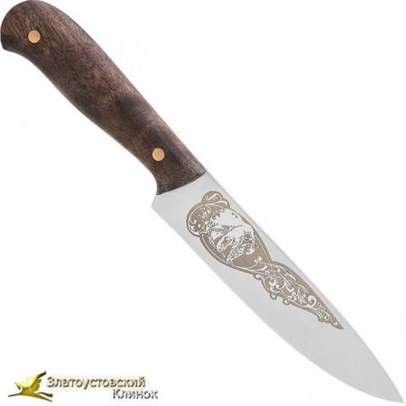 Нож Домашний. Накладки на рукоять из ореха