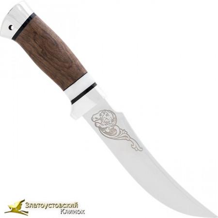 Нож Дракула. Рукоять: орех/монтелли, алюминий